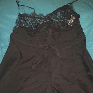 Black dress up jumpsuit